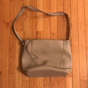 Vegan Leather Taupe Tote